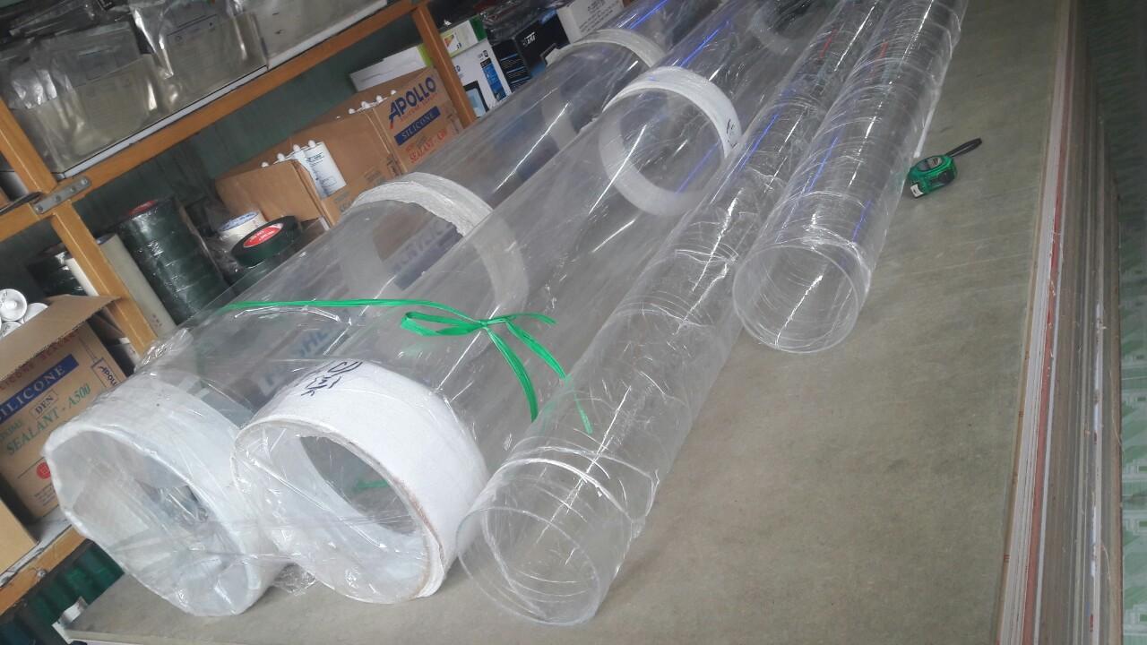 ống nhựa acrylic trong suốt đường kính 8mm đến 400mm