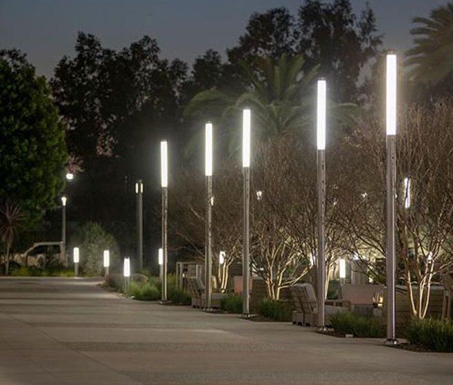 ống nhựa đục Acrylic làm đèn trang trí.